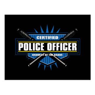 Postal Oficial de policía certificado