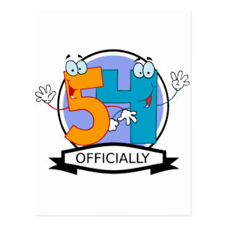 Postal Oficialmente bandera de 54 cumpleaños