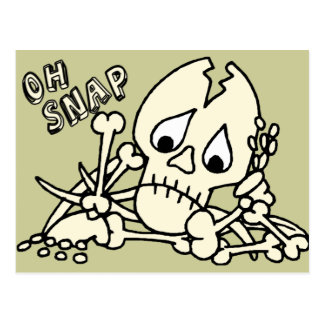 Postal Oh esqueleto rápido