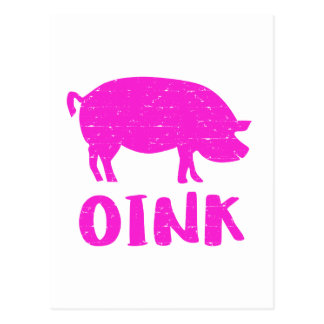 Postal Oink cerdo