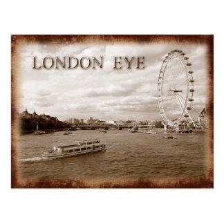 Postal Ojo de Londres (rueda del milenio)