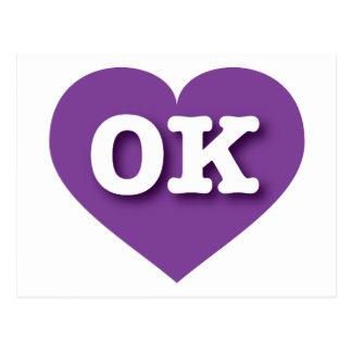 Postal Oklahoma Purple Heart - amor grande