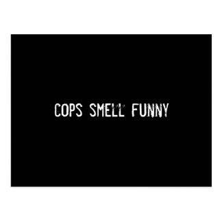 Postal olor de los polis divertido