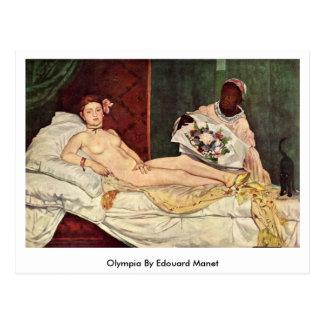 Postal Olympia de Eduardo Manet