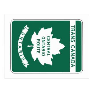 Postal Ontario, muestra de la carretera de