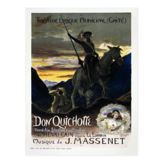 Postal Ópera francesa del Don Quijote del vintage