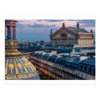 Postal Ópera garnier, París