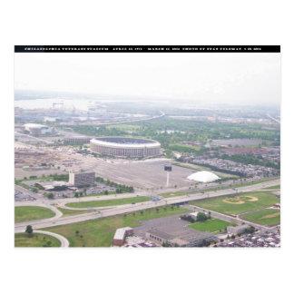 Postal Opinión aérea del Veterans Stadium del PA de