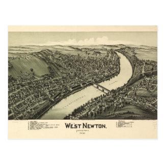 Postal Opinión aérea Newton del oeste, Pennsylvania