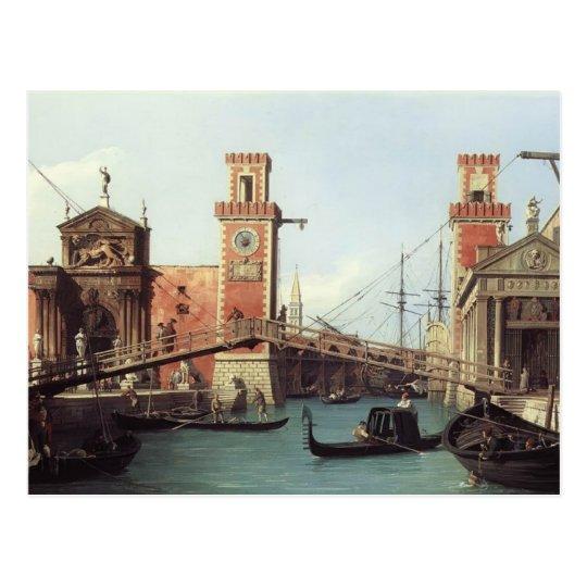 Postal Opinión de Canaletto- de la entrada al arsenal