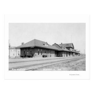 Postal Opinión de estación de ferrocarril
