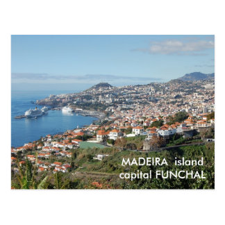 Postal Opinión de Funchal, isla de Madeira