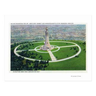 Postal Opinión de la cumbre del faro del monumento del