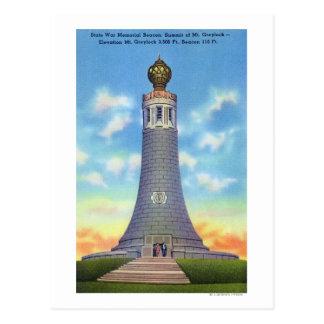 Postal Opinión de la cumbre del monumento de guerra del