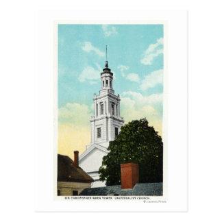 Postal Opinión de la torre de sir Christopher Wren