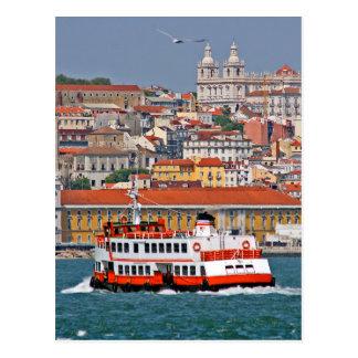 Postal Opinión de Lisboa del río Tagus