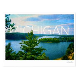 Postal opinión de Michigan del río del sable del au
