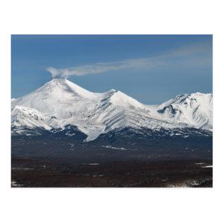 Postal Opinión del invierno del volcán de Avacha en