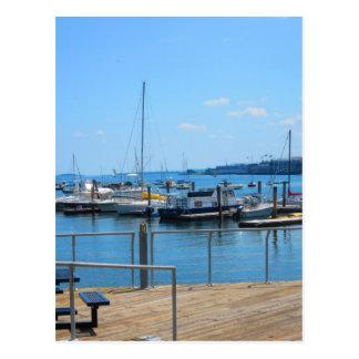 Postal Opinión del lago sailBoats del puerto del lago de