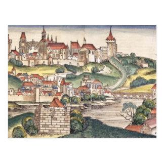 Postal Opinión del ojo de pájaro de Praga de la Nuremberg