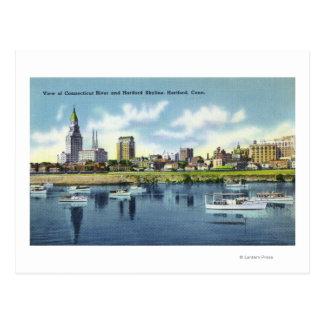 Postal Opinión del río Connecticut del horizonte de