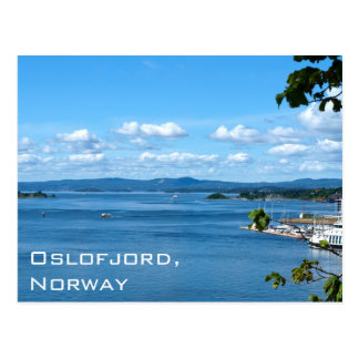 Postal Opinión del verano de Oslofjord de Oslo, Noruega