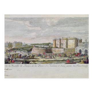 Postal Opinión el Bastille y el Porte Santo-Antoine