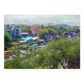 Postal Opiniones del tráfico de Nueva Deli la India de