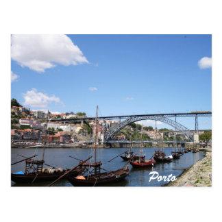 Postal Oporto por el río del Duero