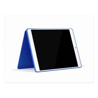 Postal Ordenador de la tableta en blanco