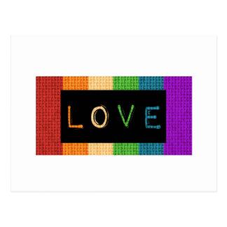 Postal Orgullo de la etiqueta LBGT del amor y ayuda del