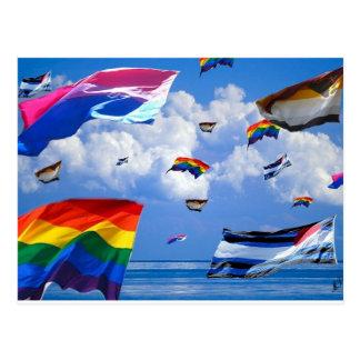 """Postal """"Orgullo del vuelo"""" por el tálero de la marca"""