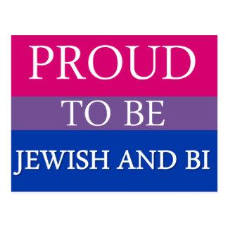 Postal Orgulloso ser judío y BI