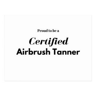 Postal Orgulloso ser un aerógrafo certificado Tanner