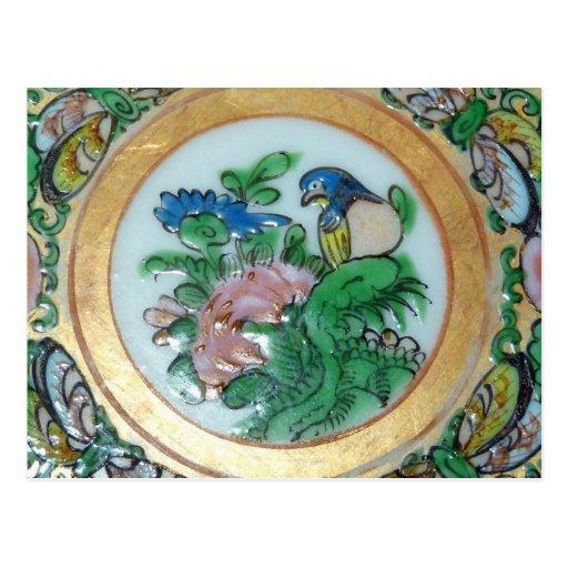 Postal oriental del diseño del vintage