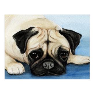 Postal original del arte del perro del barro amasa