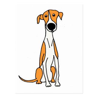 Postal Original linda del dibujo animado del perro del