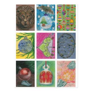 Postal Ornamentos de los artistas múltiples