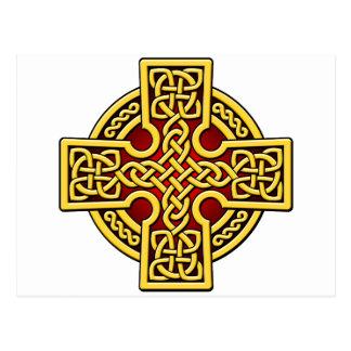 Postal Oro y rojo de la manera del Celtic 4