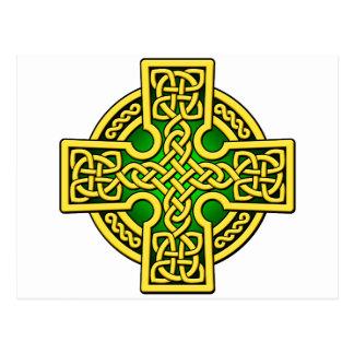 Postal Oro y verde de la manera del Celtic 4