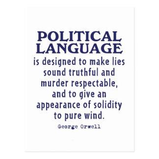 Postal Orwell en lengua política