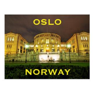 Postal Oslo, Noruega en la noche