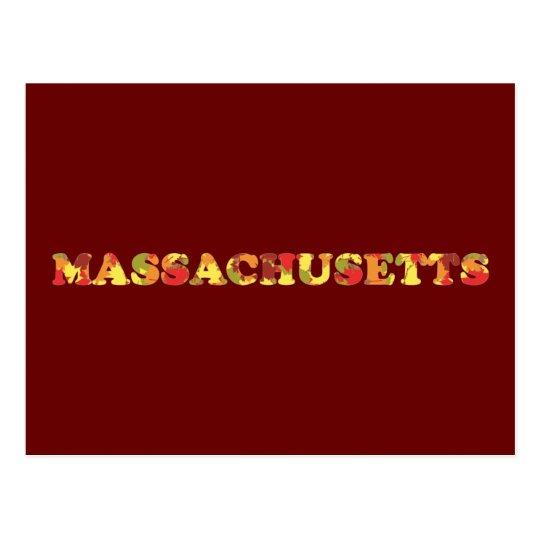 Postal Otoño en Massachusetts
