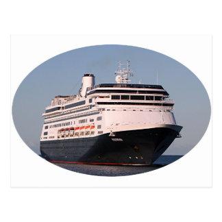 Postal Óvalo 6 del barco de cruceros de Volendam