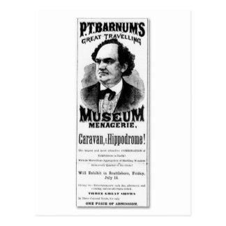 Postal P.T. Gran casa de fieras del museo de Barnum que