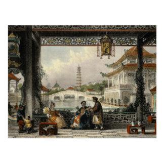 Postal Pabellón y jardines de un mandarín cerca de Pekín,