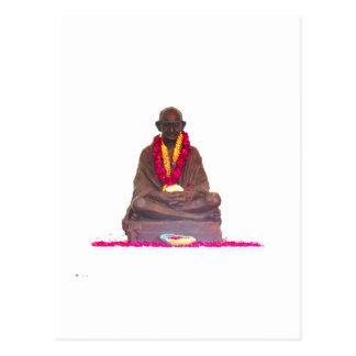 Postal Padre de Mahatma Gandhi de la nación la India
