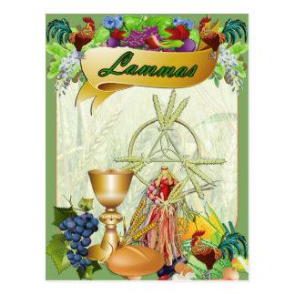 Postal pagana del arte de la fantasía de Lammas