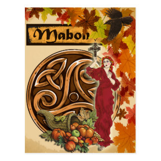 Postal pagana del arte de la fantasía de Mabon