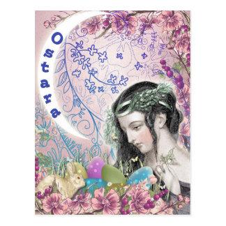 Postal pagana del arte de la fantasía de Ostara